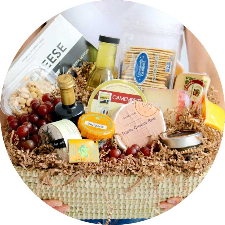 Cheese and Charcuterie Basket